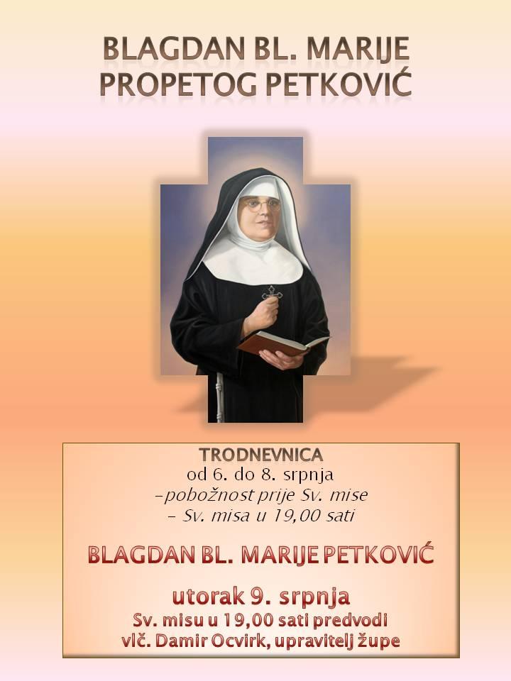 Trodnevnica bl. Marija Propetog Isusa Petković