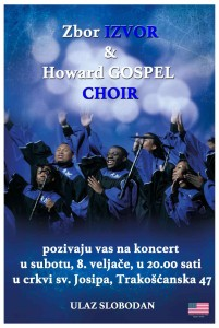 Koncert Zbor Izvor & Howard Gospel Choir