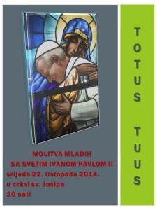 Molitva mladih sa Svetim Ivanom Pavlom II - 22.10.2014.