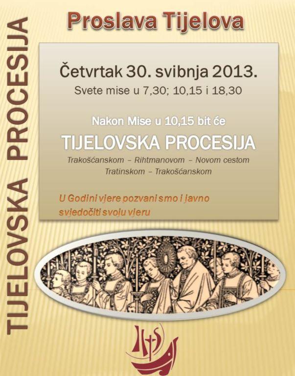 Proslava Tijelova u župi sv. Josipa, Trešnjevka, Zagreb 2013